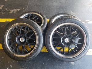 """Set of 4 17x8 5x114,3 Wheels and tires for Mazda Honda Nissan wheels 17"""" rims for Sale in Fountain Valley, CA"""