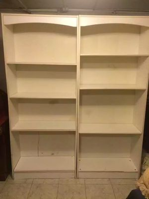 Two white wooden shelves for Sale in Baltimore, MD