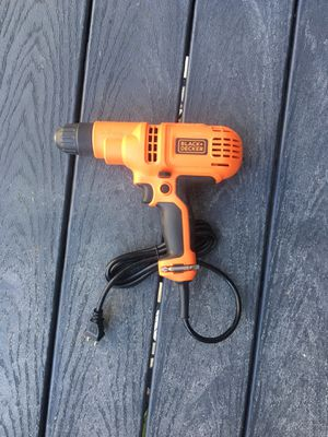 Black + Decker Corded Drill, 5.2-Amp, 3/8 inch for Sale in Rockville, MD