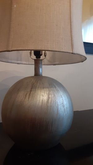 allen + roth17-in Silver Leaf Electrical Outlet 3-Way Mixed Material Lamp Base Item #859227Model #TL06SIL for Sale in Houston, TX