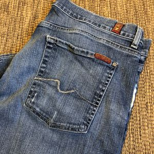 Seven 7 for All Mankind Relaxed Fit 34x30 Men's Blue Jeans Button Fly for Sale in Lake Stevens, WA
