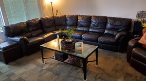 Sofa section black leather for Sale in San Jose, CA