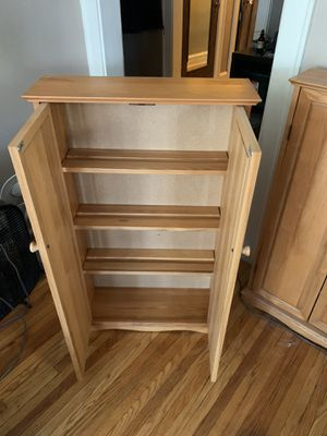 Solid wood storage cabinets $25 each 40 for both for Sale in Chicago, IL