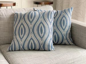 (2) Blue & White throw pillows for Sale in Auburn, WA