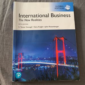 International Business: The New Realities 5th Edition College Textbook for Sale in Snellville, GA