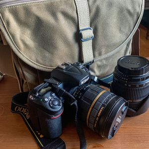 Nikon D300 W/ Two Tamron Lenses And Domke Bag for Sale in Denver, CO