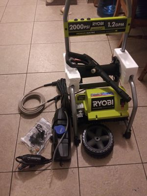 Ryobi Electric Pressure Washer 2000 psi 1.2 gpm for Sale in Fort Lauderdale, FL