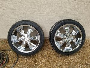Tax time!! 20' rims n tires super nice 5 lug for Sale in Phoenix, AZ