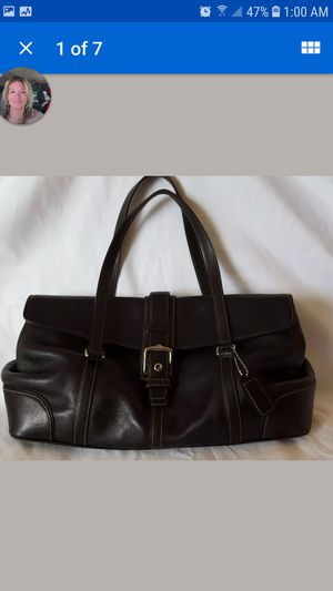 Black Coach hampton handbag for Sale in Mead, WA