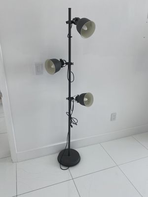 Dark Grey floor lamp with smart light bulbs for Sale in Miami, FL