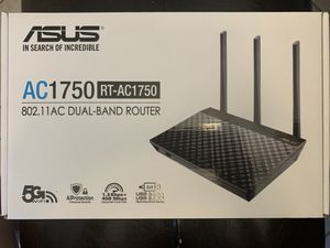 Asus RT-AC1750 B1 dual band wireless router for Sale in Ontarioville, IL