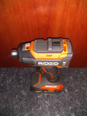 Ridgid brushless impact drill one battery no charger for Sale in Garner, NC