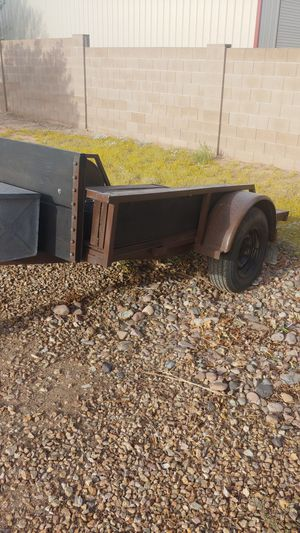 5 X 8 1/2. Trailer good tires new wiring storage box ramp that goes across the whole end. Good for for motorcycle or side by side for Sale in Queen Creek, AZ