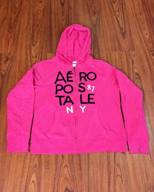 NWOT Hot Pink & Black Sequins Blingy Aeropostale Zip Up Hoodie Sweatshirt XL for Sale in Pomona, CA