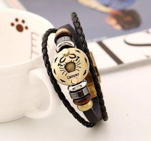 12 Constellations Multilayer Leather Bracelet, Cancer for Sale in Tustin, CA