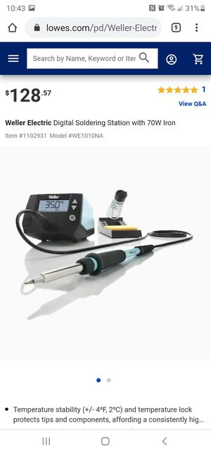 5 Weller Electric Digital Soldering Stations with 70W Iron for Sale in North Las Vegas, NV