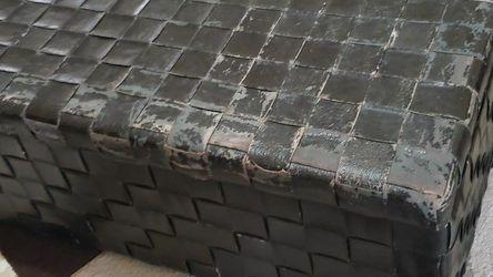 Black Leather Treasure Box Trunk for Sale in San Diego,  CA