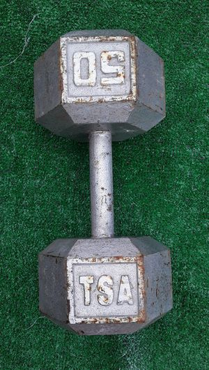 1x50lbs TSA Hexagon Dumbell Weight for Sale in Hollywood, FL