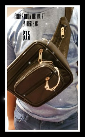 Leather cross body bag or waist for Sale in Las Vegas, NV