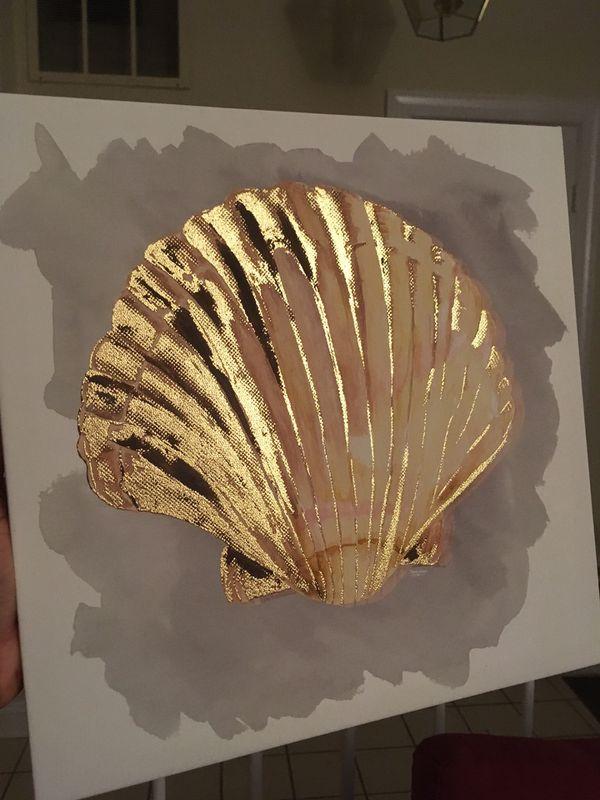 Seashell canvas art (NEW)