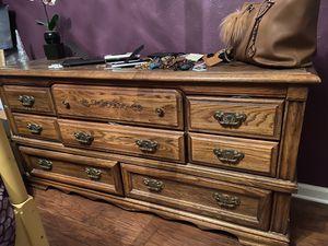 Wooden dresser for Sale in Houston, TX