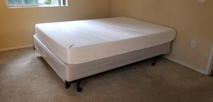 COMFY MEMORY FOAM LIKE QUEEN SIZE MATTRESS BED FRAME WITH BOX SPRING for Sale in Chula Vista, CA