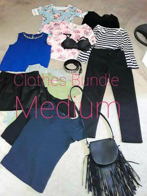 Ladies size Medium Bundle. Clothes purse belt and bra for Sale in Hemet, CA