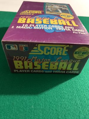Baseball Cards 1991 sealed for Sale in Converse, TX