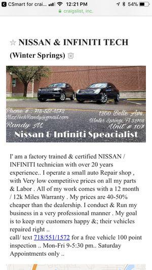 Nissan & Infiniti parts for Sale in Orlando, FL