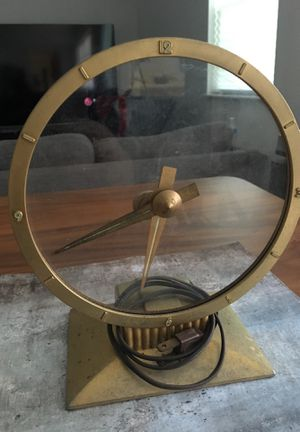 Antique 1950's Jefferson golden hour electric clock for Sale in Fort Lauderdale, FL