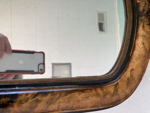 Antique shaving mirror faux tiger wood for Sale in Martinsburg, WV