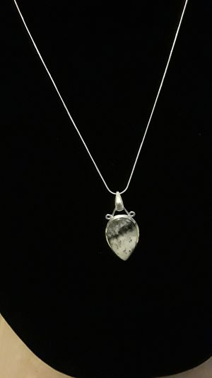 Beautiful 925 stamped gemstone pendant with free chain for Sale in Gibsonton, FL