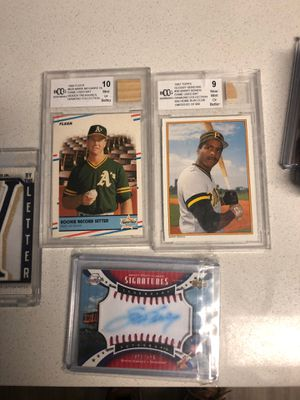 Baseball card lot Auto jersey rookie for Sale in Glendale, CO