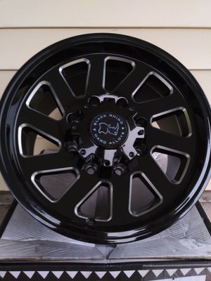 Black rhino thrust 8 lugs rims for Sale in Lakeland, FL