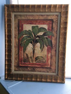 Palm tree picture framed for Sale in Frostproof, FL