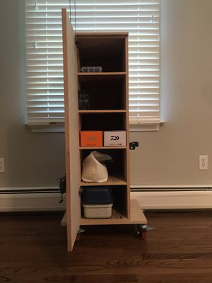Fishing Rod Rack Tackle Cabinet for Sale in Fairfield, CT