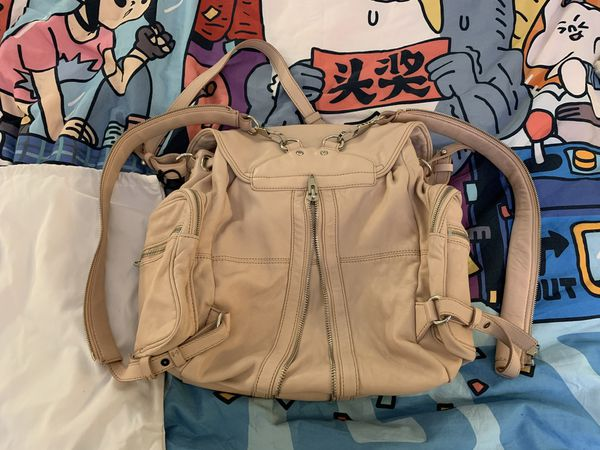 Alexander Wang Marti Pastel Pink Leather Backpack