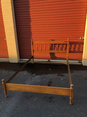 Vintage Solid Wood Full Size Spindle Bed for Sale in Woodbridge, VA