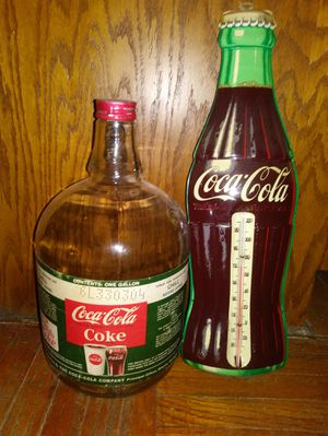 Coca Cola Thermometer & Bottle for Sale in Vancouver, WA