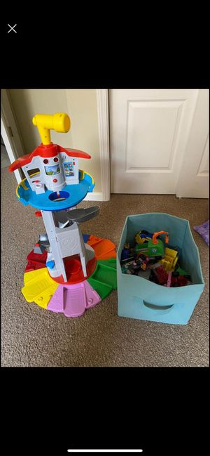 Paw patrol tower and characters for Sale in Clovis, CA