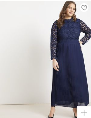 Eloquii Lace Evening Dress with Pleated Skirt for Sale in Miami, FL