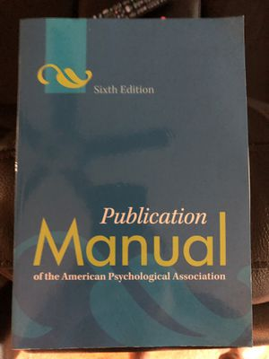Publication manual psychology book for Sale in Tampa, FL