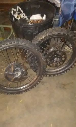 Super moto Dirt bike wheels for Sale in Denver, CO