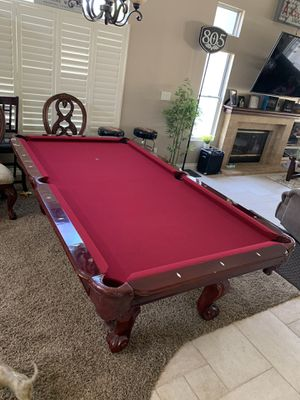 Pool Table Dark Cherry 🍒 8Ft - $900–price drop for quick sale for Sale in Corona, CA