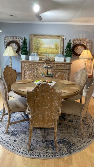 Beautiful breakfast table / dinning room table with buffet for Sale in Advance, NC