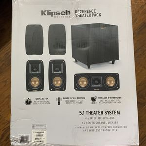 Klipsch Reference Theater Pack 5.1 Theater System for Sale in Seattle, WA
