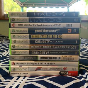 Xbox 360 Games Bundle (12 Games) (Used, All Games Work) for Sale in Miami, FL