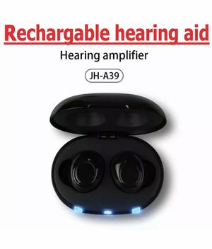 JINGHAO Rechargeable Hearing Amplifiers- Digital Sound Amplifier Pair with USB Carrying Battery Case - in The Ear Hearing Assist for Sale in Murfreesboro, TN