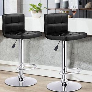 Brand New Set of 2 Black PU Leather Swivel Bar Stools for Sale in Los Angeles, CA
