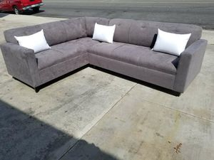 NEW 7X9FT CHARCOAL MICROFIBER SECTIONAL COUCHES for Sale in Norwalk, CA